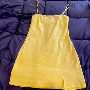 Oh Polly yellow satin dress size small ⚡️sale⚡️